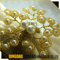 bulk wholesale pearl flower wedding napkin ring