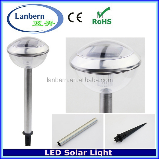 Solar led light manufacturer Stainless Steel Solar Powered Stick Lights Outdoor Garden Path Patio LampJD-143A