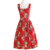 Stock Drop Shipping Hot Style Midi Length Floral Print Cheap Dinner Dress