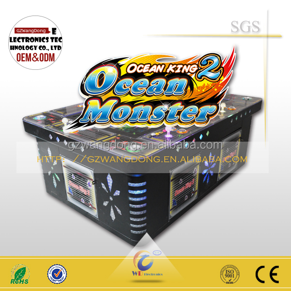 China gold supplier latest fishing man game ticket eater machine