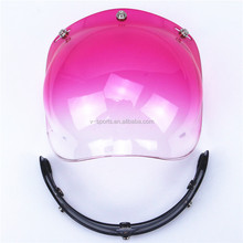 Compatible Motorcycle Bubble Visor UV 400 Coating Helmet Bubble shield