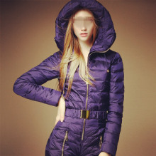 Fast supply ladies high quality down ski suit