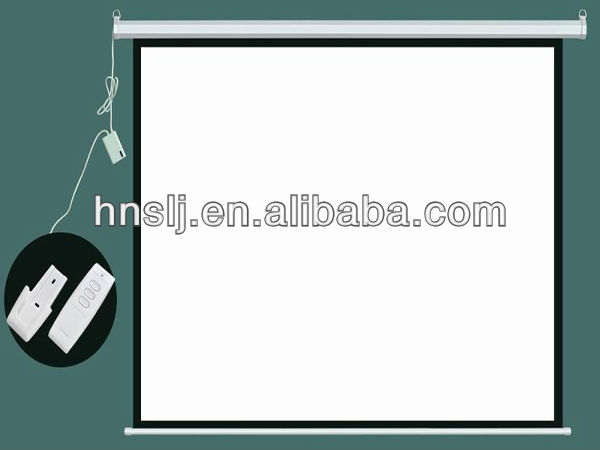Fireproof 400 inch electric projector screens (SLJ)