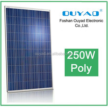 Hot sale pv 24v 250w polycrystalline solar panel price/pv solar panel price with factory warranty S-S-60-250/3BB