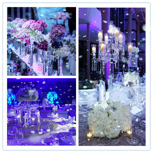 2016 New home decor gold arms crystal candle holder used to home or wedding