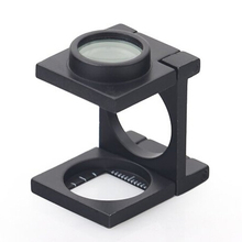 BIJIA 10X13.4 Mini Foldable Linen Tester Magnifiers Loupe for Checking and Testing Cloth and Jewelry