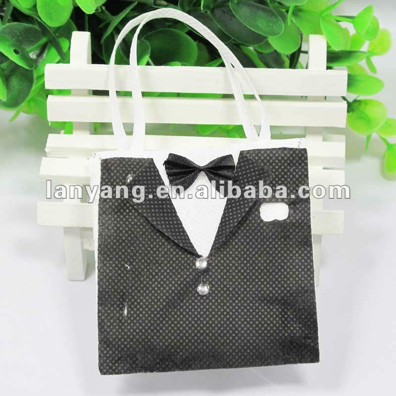 New Fashion Groom Tuxedo wedding party favor bag great for wedding favors