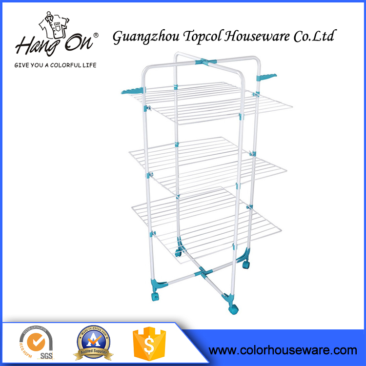 Fully stocked stainlesss steel clothing stand clothes hanger rack