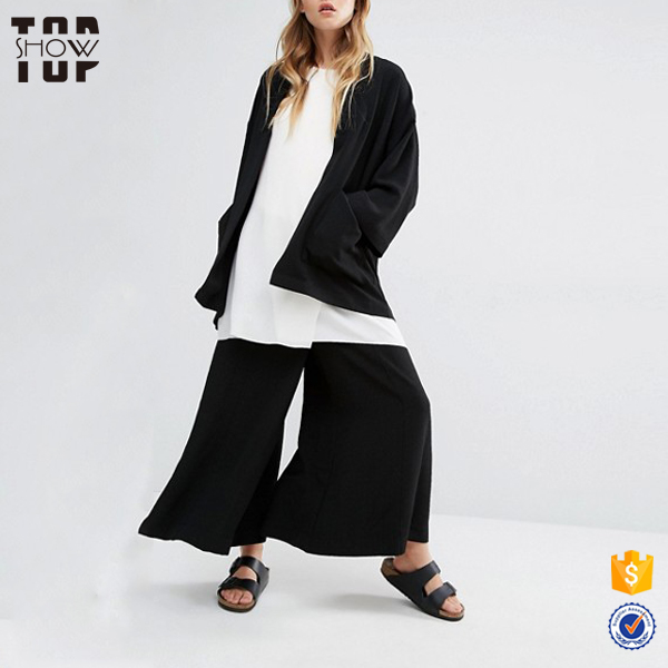 Online shop china factory cheapest black open front kimono jacket for women
