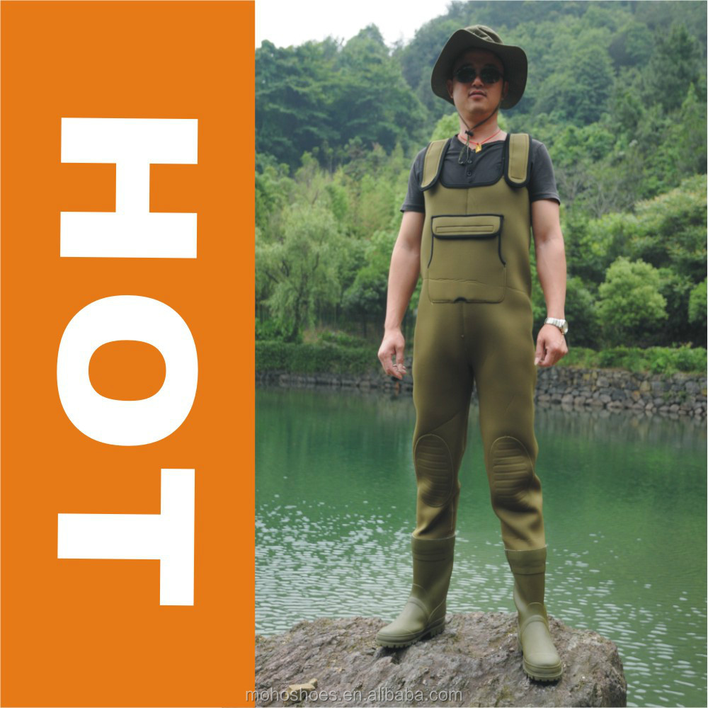 Men's Green Neoprene Stocking Foot Wader