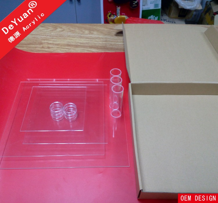 Square Cupcake Stand Clear With Single Box Packing