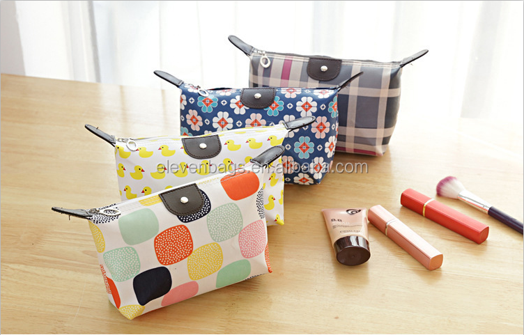 Waterproof Small Items Washed Folding Travel Bag 49g PU Cosmetic Bag