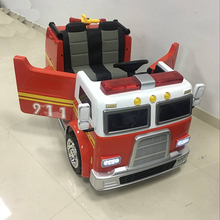 High quality battery operated power wheels baby ride on toy car 12V baby fire truck toy