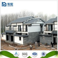Prefabricated Light steel structure house green modular villa