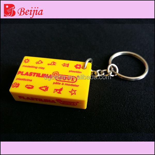 custom names of different products shaped made rubber pvc Keychain