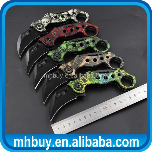 Multifunctional damascus hunting knife blanks,440c stainless steel knife damascus hunting knife blanks with low price