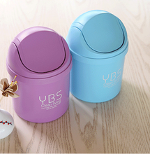 Creative Mini Desktop Trash Can Cute Travelling Carriable Bin