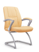 PU leather executive office chair without wheels for meeting room 6217