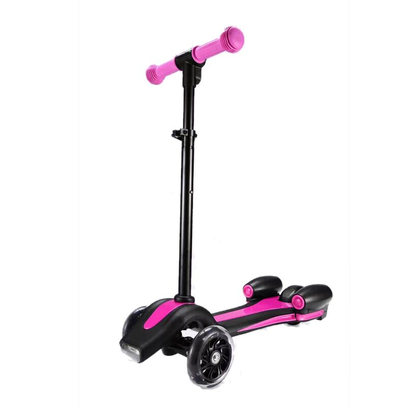 portable three/four wheel children kick scooter adjustable height foot scooter