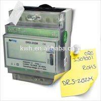 Single phase DRS-202M Din rail output RS485 electric digital power meter