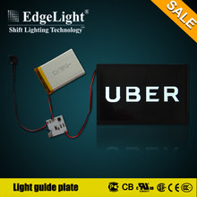 Edgelight led light acrylic display with custom sharp led lighting with UL listed