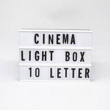 2018 movie poster LED black or colour frame light box led message DIY board for cinematic displaying