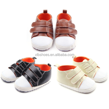 OEM style high top leather baby sneakers good quality baby shoes