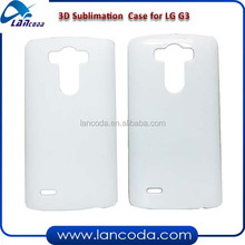 3D sublimation phone case for LG G3 blank mobile phone case cover,with 3D printing tool