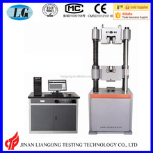 computer screen display hydraulic universal testing machine usage steel wire pull strength test/tension test