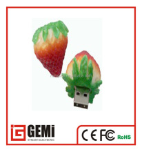 strawberry shape silicon power usb flash drive with cheap price from alibaba