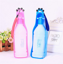 350/600ML New Design Portable Foldable Tank Puppy Walking Dog Water Bottle for Travel