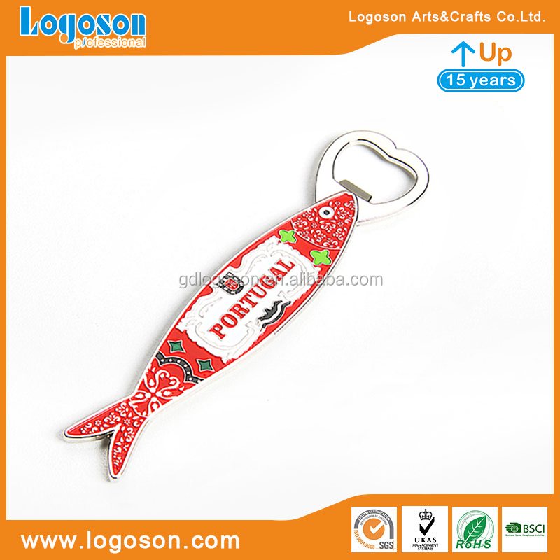 Zinc alloy bottle opener personalized Portugal souvenir bottle opener