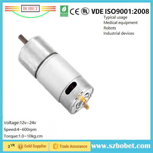 wholesale price 37mm gear motor 12v dc gear micro brush motor for Sugical devices