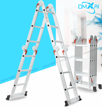 2018 household multipurpose folding hinged ultimate aluminium 4x5 movable step ladder with locking hinge joint as seen on tv 6m