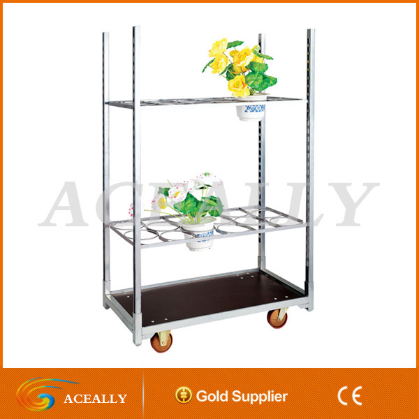 Display Flower Trolley, cart.Danish Trolley.Gardening Transport Cart, Steel Rolling Trolley Tool cart.Greenhouse Equiment