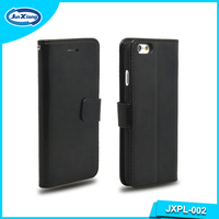 Black Color Leather Wallet Case for iPhone 6 4.7inch for i6