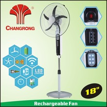2017 new 18inch 12v ac dc cooling fan with timer function light abttery