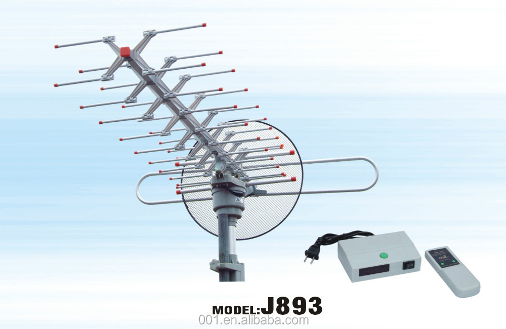 J893 NEW DESIGN OUTDOOR ROTATING TV ANTENNA Remote controlled radiating tv antennas hd power amplified tv antenas