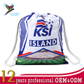 National Island football team polyester sport drawstring mesh bags