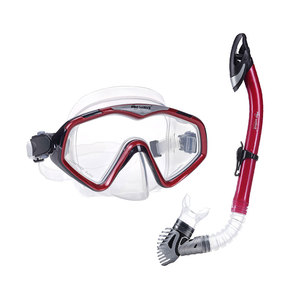 Wave professional free breath diving snorkeling full dry mask and snorkel set
