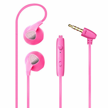 So hot Candy colors wired earphone for iphone sport earphone with mic