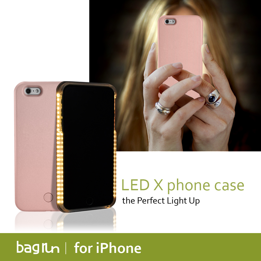 Led mobile phone case for iphone charging with ios 8 pin cable
