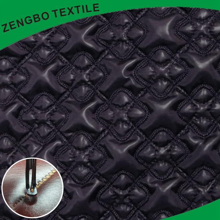 alibaba italia quilted faux leather fabric Made in China