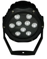 die-cast aluminum housing 9/12pcs* 1w leds outdoor spotlight with clear tempered glass