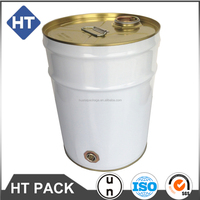 20L white solvent bucket , steel drum for acrylic polyurethane/resol accelerator/Anti pin-hole thinner, UN approved