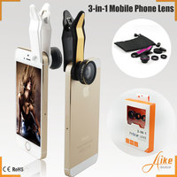 2016 new products no app no bluetooth selfie camera mobile phone lens 3 in 1 lens kit for iphone 6 6s samsung galaxy 6s