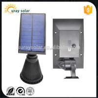 LED Solar Spotlight solar Powered Outdoor Wall Light - Waterproof, Adjustable 180 degree IP44