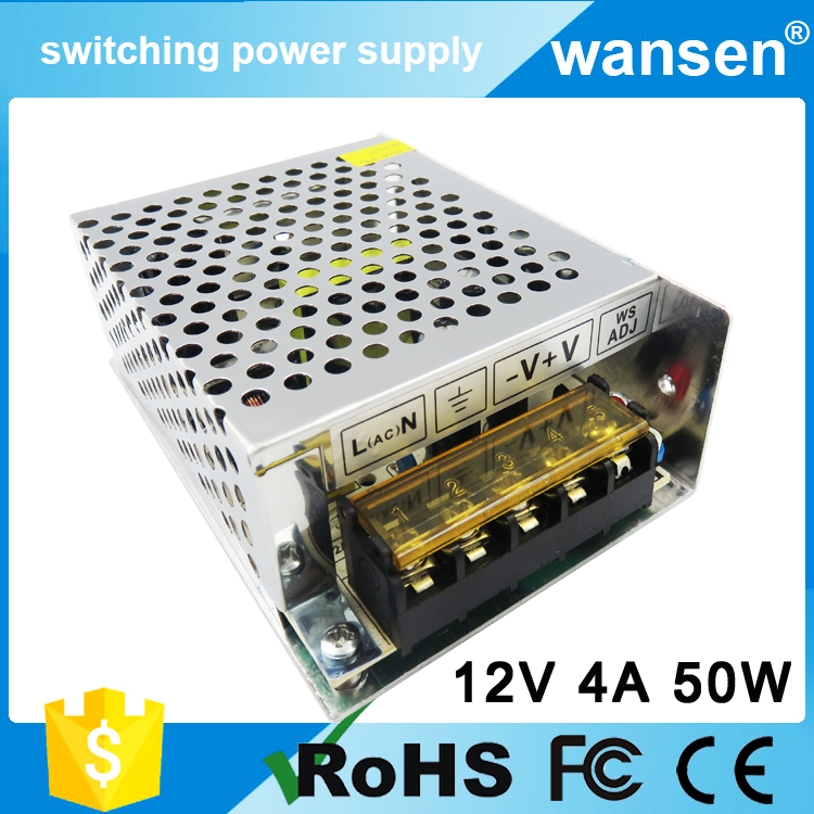 S-50-12 ac to dc cctv 12v switching power supply / 50w 4.2a led transformer