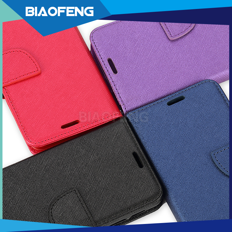 For alcatel mobile phone accessories pu leather flip wallet cell phone case for alcatel pixi 4 (6.0) case