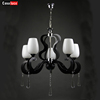 Good quality popular big modern glass crystal led luminaire lighting chandelier